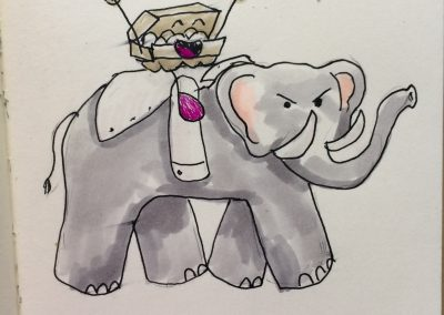 Elephant's here by Amanda